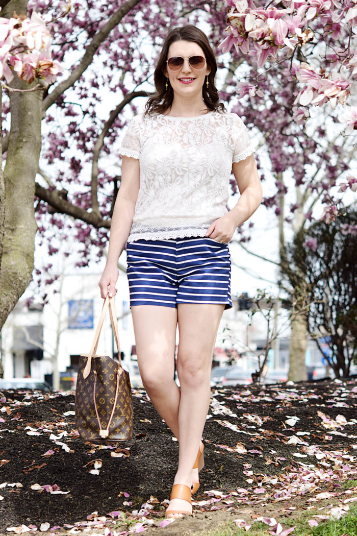 How to Style Striped Shorts - click to find the full post on AnExplorersHeart.com
