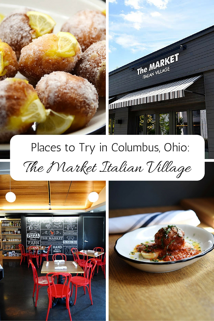 The Market Italian Village in Columbus, Ohio is a full service restaurant as well as a cafe.