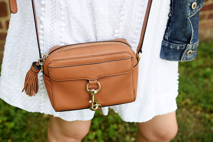 Rebecca Minkoff MAB Camera bag has become my favorite purse for summer. It's lightweight and classic. See the whole look on AnExplorersHeart.com