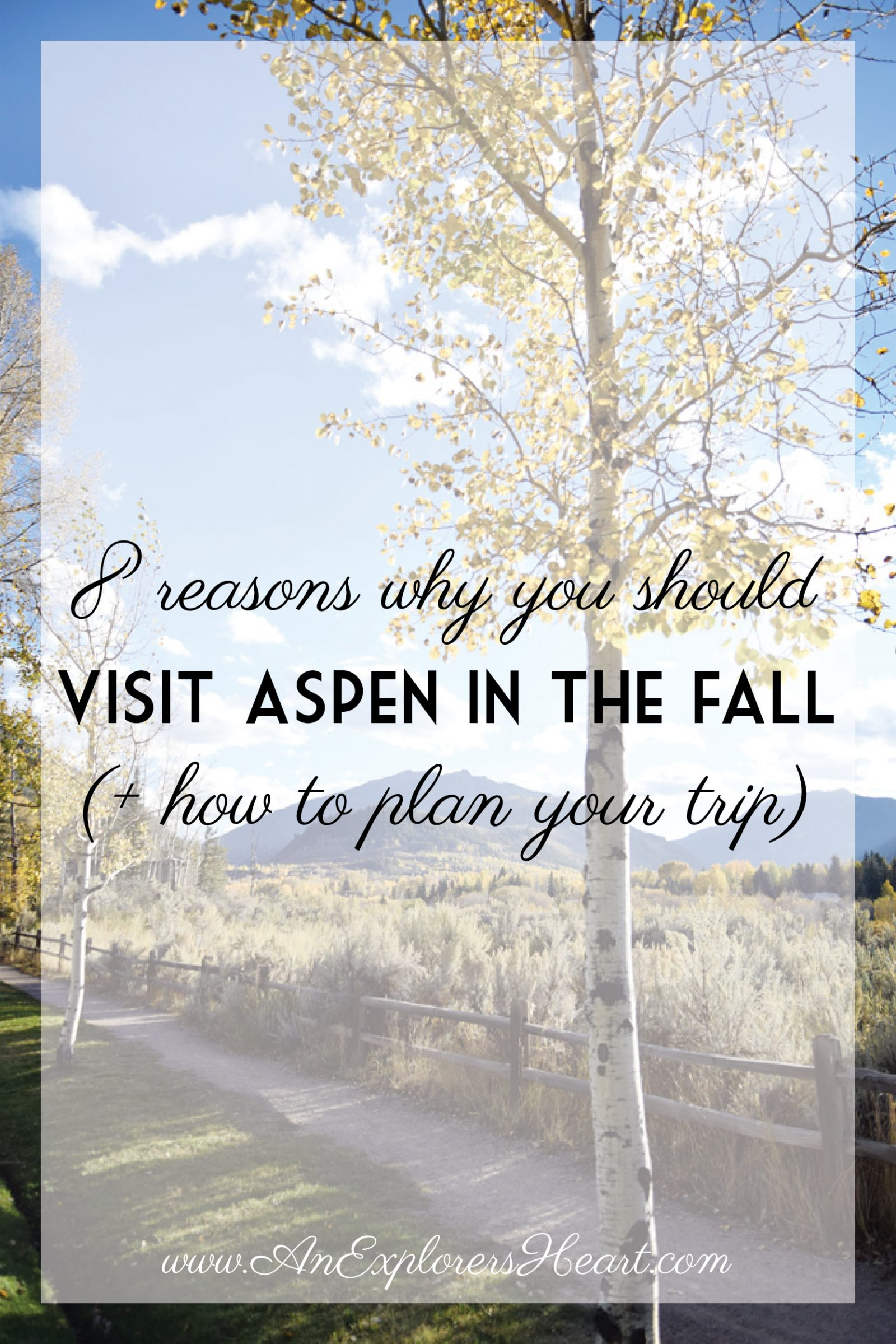 How to plan your trip to Aspen, Colorado this Fall