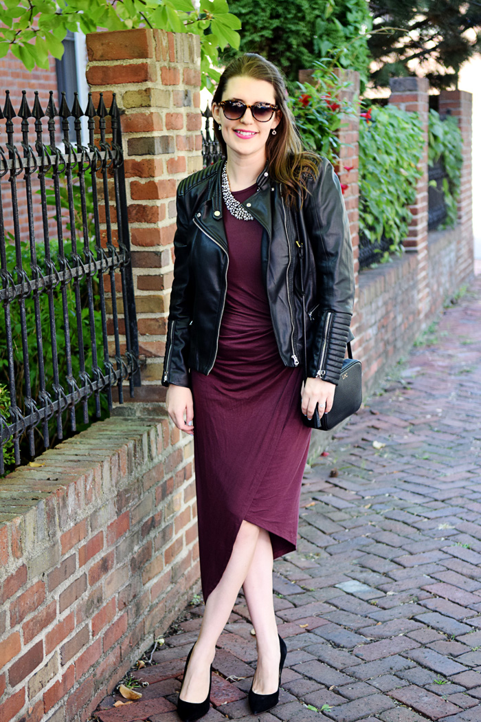 Purple Wrap Dress: Styled for Night or Day