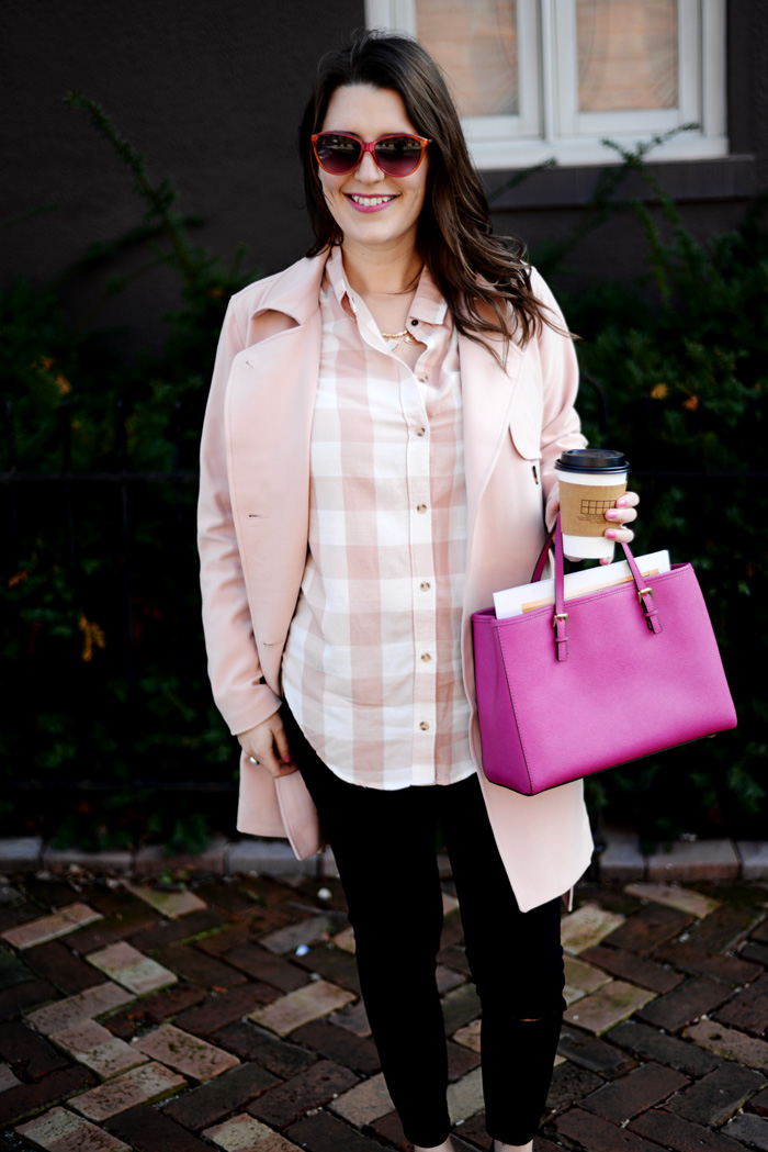 Abercrombie Pink Trench on AnExplorersHeart.com