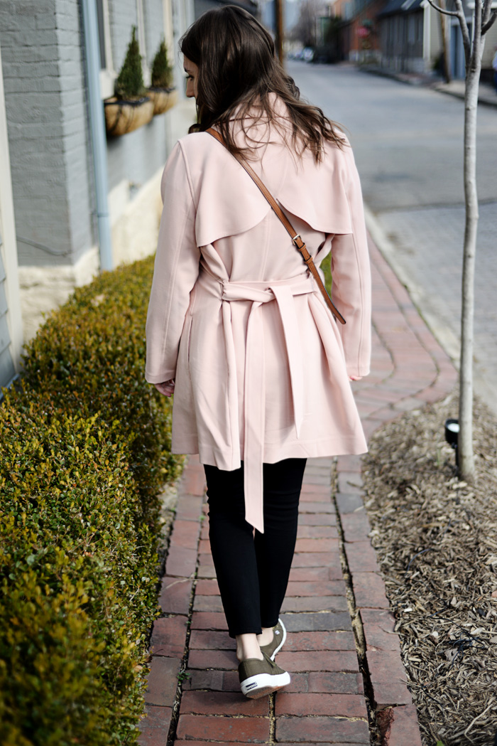 Abercrombie & Fitch Blush Pink Trench on AnExplorersHeart.com