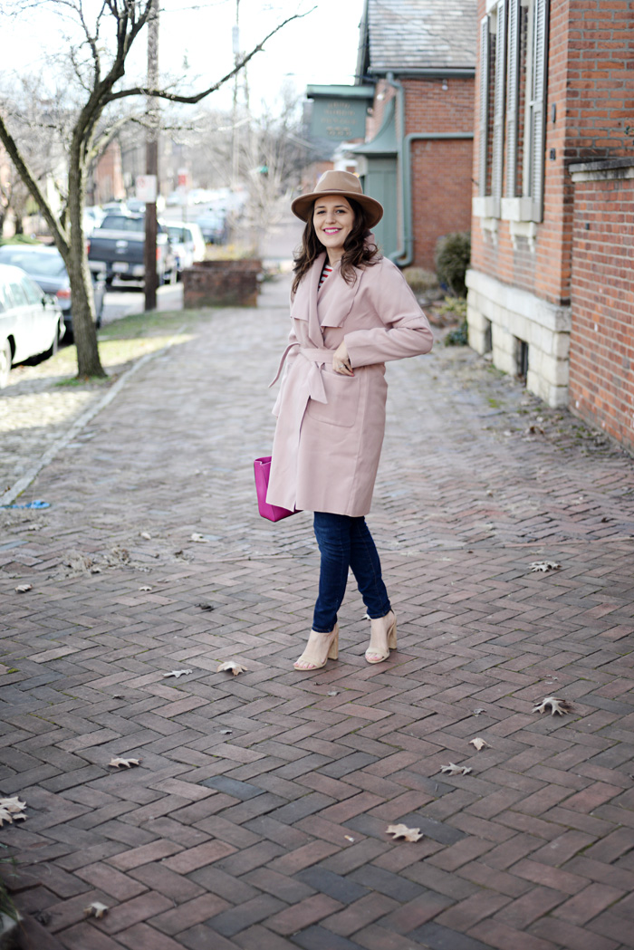Pink Drape Coat on AnExplorersHeart.com