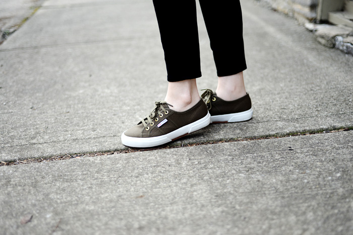 Army Green Superga Sneakers on AnExplorersHeart.com