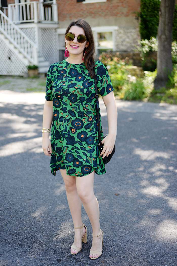 Tropical Print Floral Dress on AnExplorersHeart.com