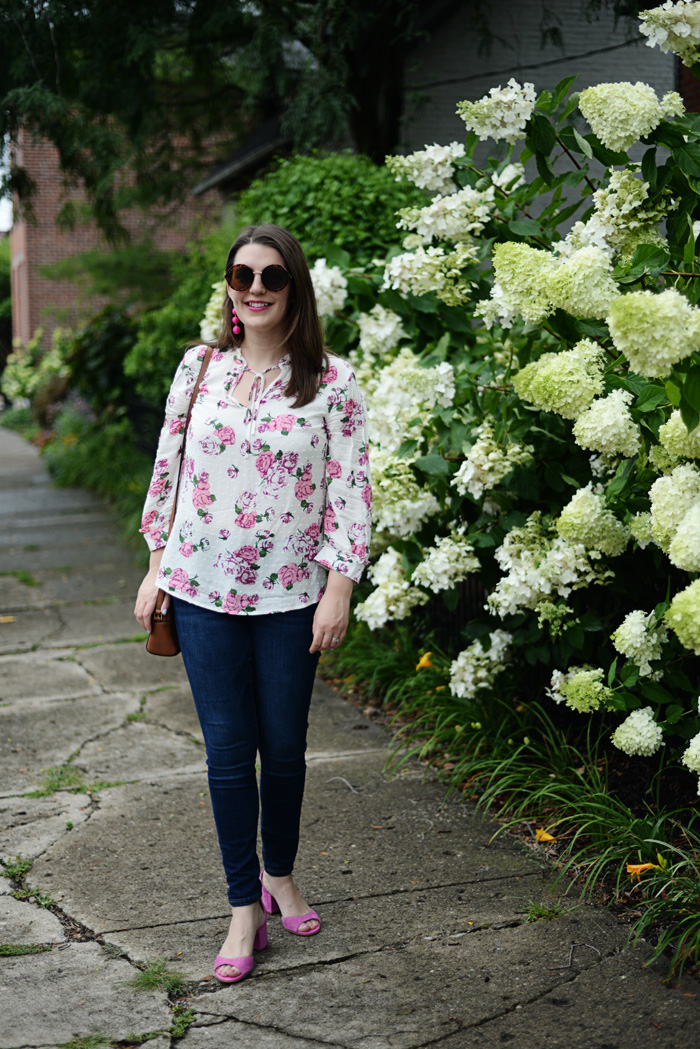 Modcloth Floral Shirt on AnExplorersHeart.com