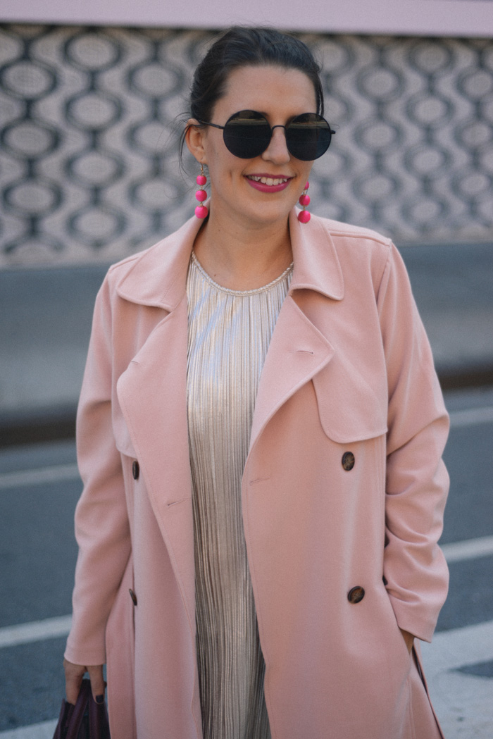 Pink Blush Trench Coat NYFW on AnExplorersHeart.com