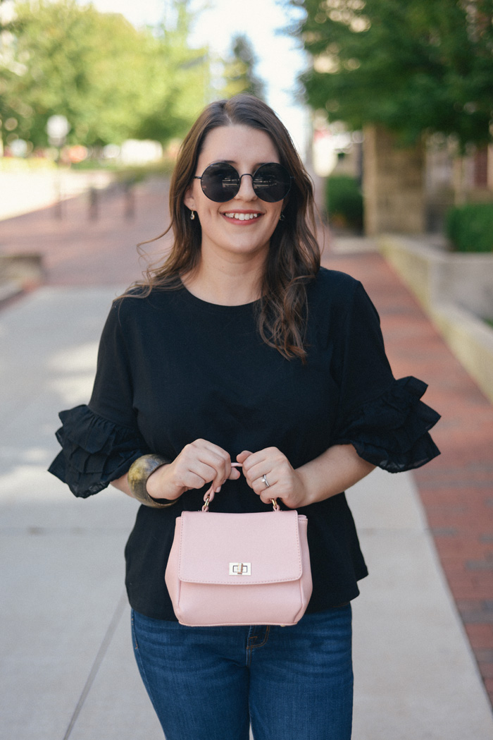 Black Ruffle Shirt: Perfect for Work or the Weekend