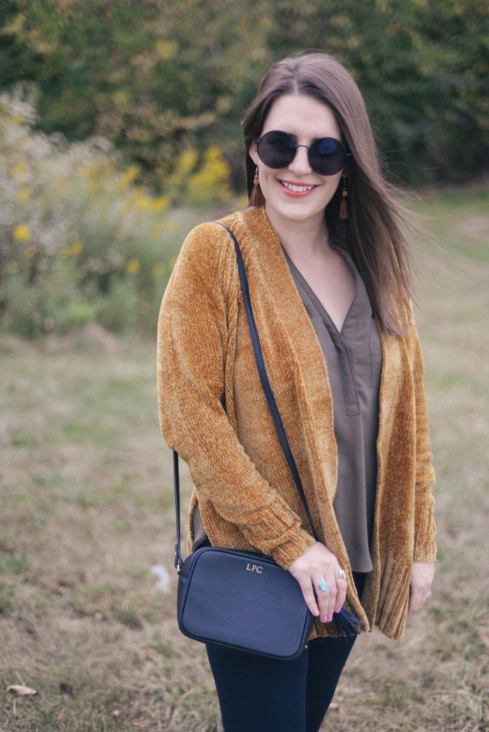 Chenille Cardigan Sweater Cozy Soft shop the look on AnExplorersHeart.com