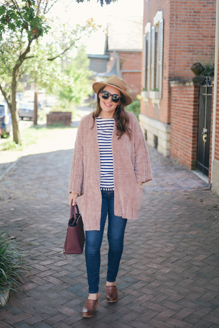 Pink Chenille Sweater: a Fall Favorite