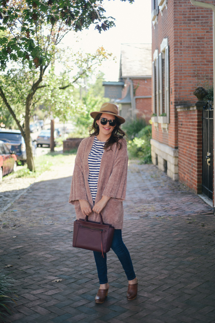 Pink Chenille Sweater from Anthropologie on AnExplorersHeart.com