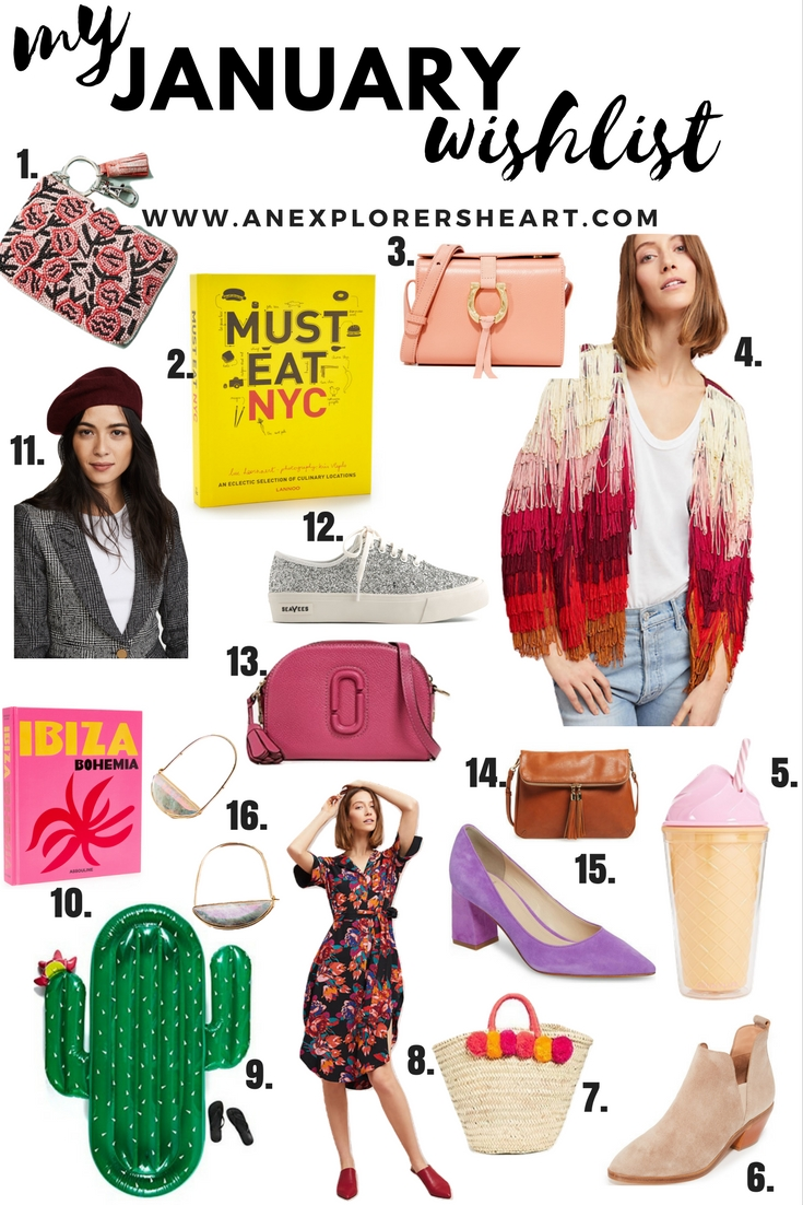 My January Wishlist - what I'm eyeing this month on AnExplorersHeart.com