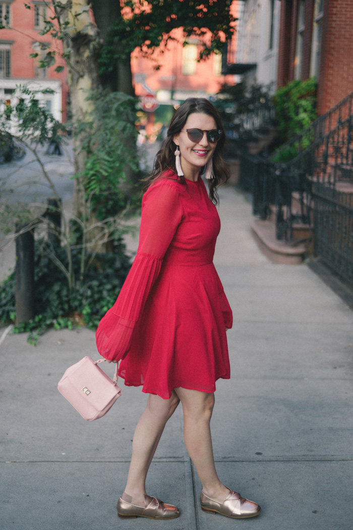 Fall in the City: Bell Sleeve Dress