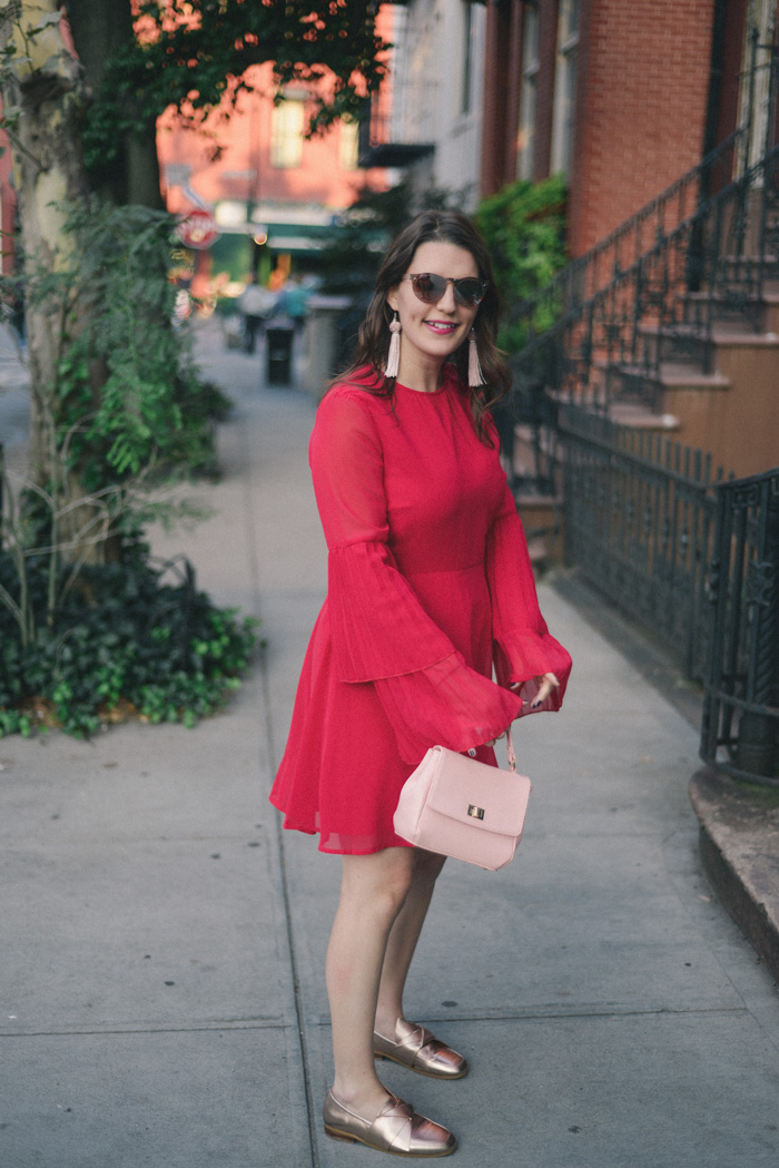ASOS Bell Sleeve Dress