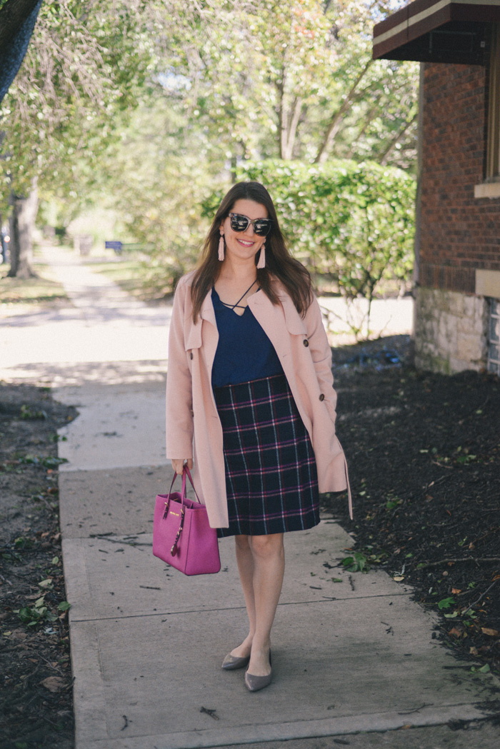 Talbots Herringbone Skirt on AnExplorersHeart.com